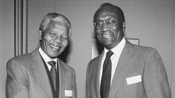 Nelson Mandela and Franklin A Thomas. 1993. Photo Credit: © Ford Foundation